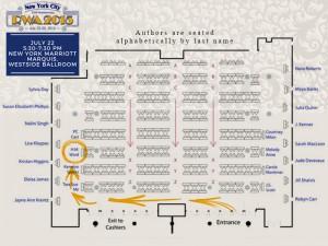 HM Ward RWA 2015 seating plan